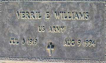 WILLIAMS, VERRIL E - Mohave County, Arizona | VERRIL E WILLIAMS - Arizona Gravestone Photos