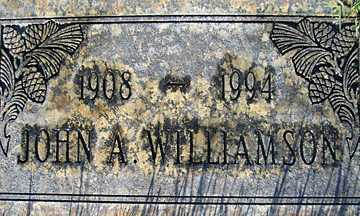 WILLIAMSON, JOHN A - Mohave County, Arizona | JOHN A WILLIAMSON - Arizona Gravestone Photos