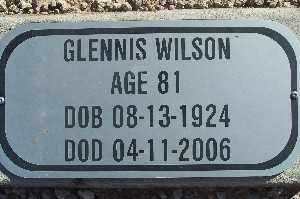WILSON, GLENNIS - Mohave County, Arizona | GLENNIS WILSON - Arizona Gravestone Photos