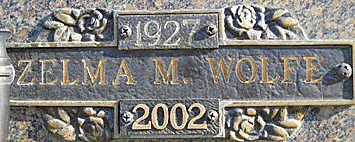 WOLFE, ZELMA M - Mohave County, Arizona | ZELMA M WOLFE - Arizona Gravestone Photos