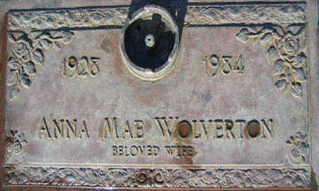 WOLVERTON, ANNA MAE - Mohave County, Arizona   ANNA MAE WOLVERTON - Arizona Gravestone Photos