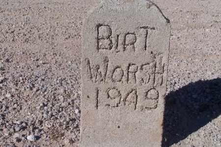 WORSH, BIRT - Mohave County, Arizona | BIRT WORSH - Arizona Gravestone Photos