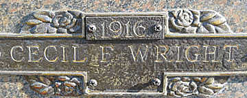 WRIGHT, CECIL F - Mohave County, Arizona | CECIL F WRIGHT - Arizona Gravestone Photos
