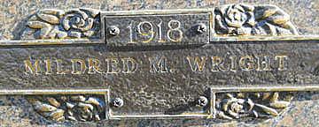 WRIGHT, MILDRED M - Mohave County, Arizona   MILDRED M WRIGHT - Arizona Gravestone Photos