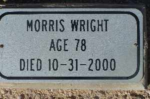 WRIGHT, MORRIS - Mohave County, Arizona | MORRIS WRIGHT - Arizona Gravestone Photos