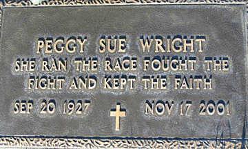WRIGHT, PEGGY SUE - Mohave County, Arizona | PEGGY SUE WRIGHT - Arizona Gravestone Photos