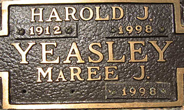 YEASLEY, HAROLD J - Mohave County, Arizona | HAROLD J YEASLEY - Arizona Gravestone Photos