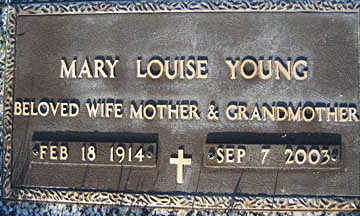 YOUNG, MARY LOUISE - Mohave County, Arizona | MARY LOUISE YOUNG - Arizona Gravestone Photos