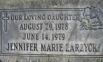 ZARZYCKI, JENNIFER MARIE - Mohave County, Arizona | JENNIFER MARIE ZARZYCKI - Arizona Gravestone Photos