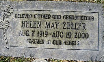 ZELLER, HELEN MAY - Mohave County, Arizona | HELEN MAY ZELLER - Arizona Gravestone Photos