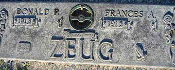 ZEUG, FRANCES A - Mohave County, Arizona | FRANCES A ZEUG - Arizona Gravestone Photos