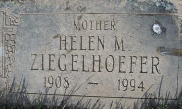 ZIEGELHOEFER, HELEN M - Mohave County, Arizona | HELEN M ZIEGELHOEFER - Arizona Gravestone Photos