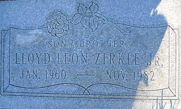 ZIRKLE JR., LLOYD LEON - Mohave County, Arizona   LLOYD LEON ZIRKLE JR. - Arizona Gravestone Photos