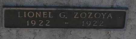 ZOZOYA, LIONEL G. - Mohave County, Arizona | LIONEL G. ZOZOYA - Arizona Gravestone Photos