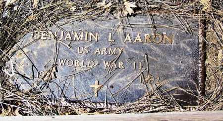 AARON, BENJAMIN L. - Navajo County, Arizona | BENJAMIN L. AARON - Arizona Gravestone Photos