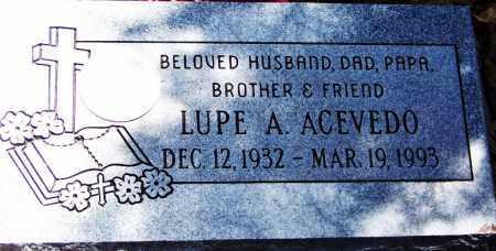 ACEVEDO, LUPE APODACA - Navajo County, Arizona | LUPE APODACA ACEVEDO - Arizona Gravestone Photos