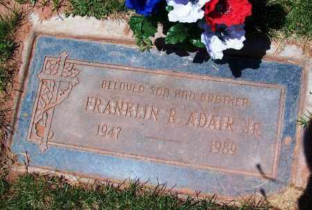 ADAIR, FRANKLIN R., JR. - Navajo County, Arizona | FRANKLIN R., JR. ADAIR - Arizona Gravestone Photos