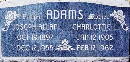 LAKE ADAMS, CHARLOTTIE L. - Navajo County, Arizona | CHARLOTTIE L. LAKE ADAMS - Arizona Gravestone Photos