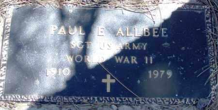 ALLBEE, PAUL - Navajo County, Arizona   PAUL ALLBEE - Arizona Gravestone Photos