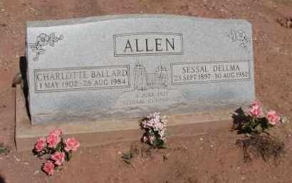 ALLEN, CHARLOTTE BALLARD - Navajo County, Arizona | CHARLOTTE BALLARD ALLEN - Arizona Gravestone Photos