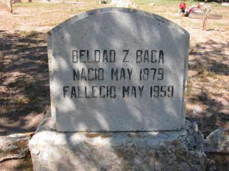 BACA, BELDAD Z. - Navajo County, Arizona | BELDAD Z. BACA - Arizona Gravestone Photos