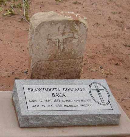 GONZALES BACA, FRANCISQUITA - Navajo County, Arizona | FRANCISQUITA GONZALES BACA - Arizona Gravestone Photos