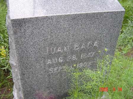 BACA, JUAN - Navajo County, Arizona | JUAN BACA - Arizona Gravestone Photos