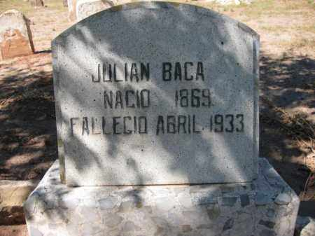 BACA, JULIAN - Navajo County, Arizona | JULIAN BACA - Arizona Gravestone Photos