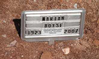 BOISE, MARIAN - Navajo County, Arizona | MARIAN BOISE - Arizona Gravestone Photos