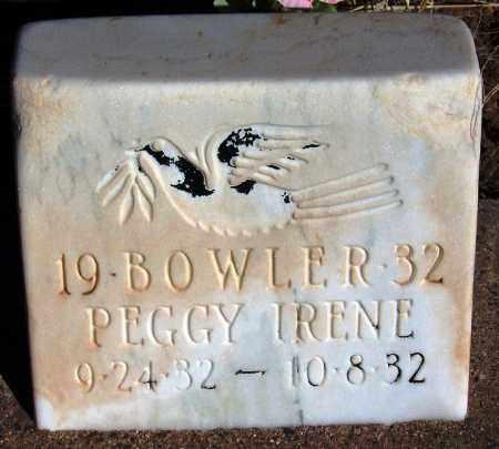 BOWLER, PEGGY IRENE - Navajo County, Arizona | PEGGY IRENE BOWLER - Arizona Gravestone Photos