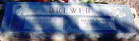 BREWER, JACOB EDWARD - Navajo County, Arizona | JACOB EDWARD BREWER - Arizona Gravestone Photos