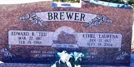 BREWER, EDWARD R. (TED) - Navajo County, Arizona   EDWARD R. (TED) BREWER - Arizona Gravestone Photos