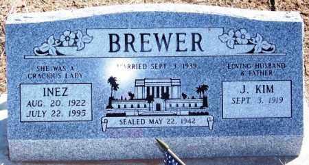 BREWER, INEZ - Navajo County, Arizona | INEZ BREWER - Arizona Gravestone Photos