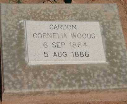 CARDON, CORNELIA WOODS - Navajo County, Arizona | CORNELIA WOODS CARDON - Arizona Gravestone Photos