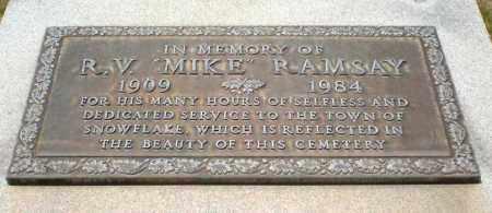 "*CEMETERY, *R. V. ""MIKE"" RAMSAY - Navajo County, Arizona | *R. V. ""MIKE"" RAMSAY *CEMETERY - Arizona Gravestone Photos"