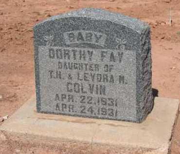 COLVIN, DORTHY FAY - Navajo County, Arizona   DORTHY FAY COLVIN - Arizona Gravestone Photos