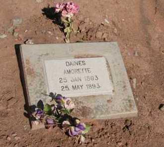 DAINES, AMORETTE - Navajo County, Arizona | AMORETTE DAINES - Arizona Gravestone Photos