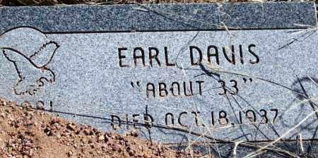 DAVIS, EARL - Navajo County, Arizona | EARL DAVIS - Arizona Gravestone Photos