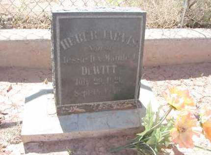 DEWITT, HEBER JARVIS - Navajo County, Arizona | HEBER JARVIS DEWITT - Arizona Gravestone Photos
