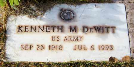 DEWITT, KENNETH M. - Navajo County, Arizona | KENNETH M. DEWITT - Arizona Gravestone Photos