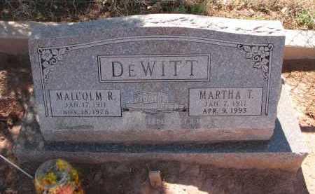 DEWITT, MARTHA T. - Navajo County, Arizona | MARTHA T. DEWITT - Arizona Gravestone Photos