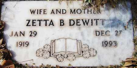 DEWITT, ZETTA B. - Navajo County, Arizona | ZETTA B. DEWITT - Arizona Gravestone Photos