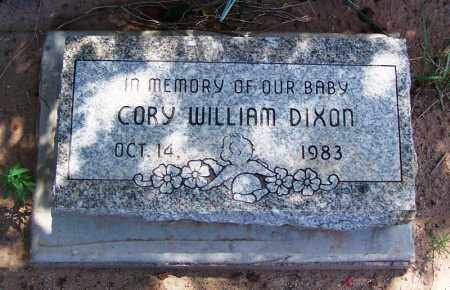 DIXON, CORY WILLIAM - Navajo County, Arizona | CORY WILLIAM DIXON - Arizona Gravestone Photos