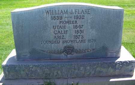FLAKE, WILLIAM JORDAN - Navajo County, Arizona   WILLIAM JORDAN FLAKE - Arizona Gravestone Photos