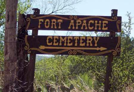 *FORT APACHE, ROAD SIGN - Navajo County, Arizona | ROAD SIGN *FORT APACHE - Arizona Gravestone Photos