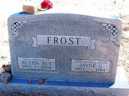 FROST, JAYNE G. - Navajo County, Arizona | JAYNE G. FROST - Arizona Gravestone Photos