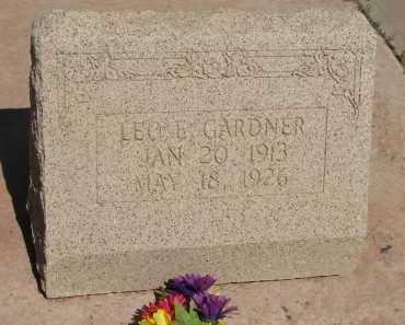 GARDNER, LEO E. - Navajo County, Arizona | LEO E. GARDNER - Arizona Gravestone Photos