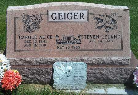 GEIGER, CAROLE ALICE - Navajo County, Arizona | CAROLE ALICE GEIGER - Arizona Gravestone Photos