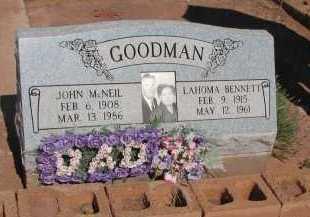 GOODMAN, JOHN MCNEIL - Navajo County, Arizona   JOHN MCNEIL GOODMAN - Arizona Gravestone Photos