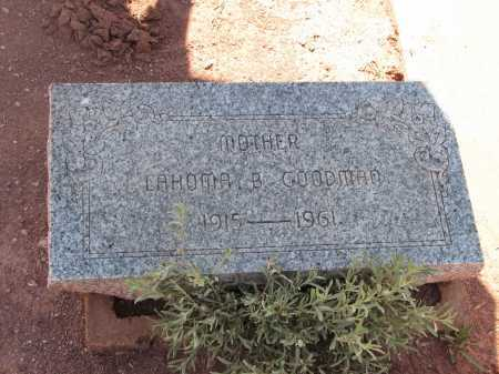 GOODMAN, LAHOMA B. - Navajo County, Arizona | LAHOMA B. GOODMAN - Arizona Gravestone Photos